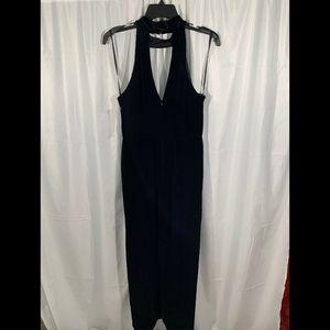 Xscape Dresses - NWT XSCAPE Velvet Choker Neck Wrap Dress Black